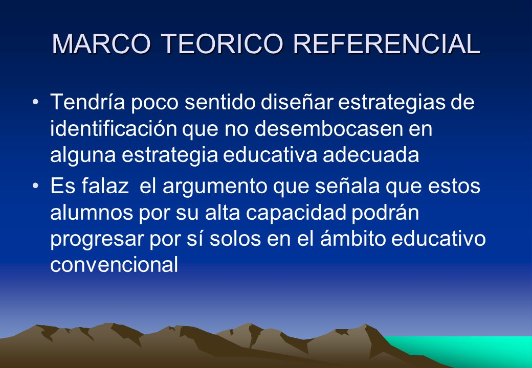 MARCO TEORICO REFERENCIAL