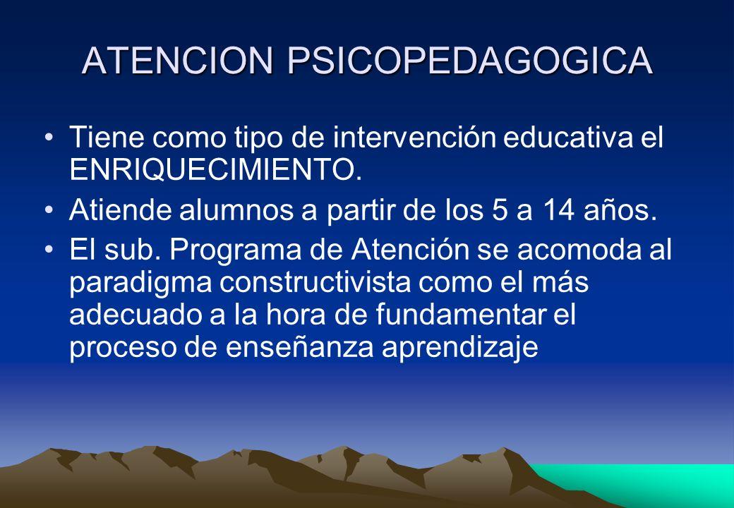 ATENCION PSICOPEDAGOGICA