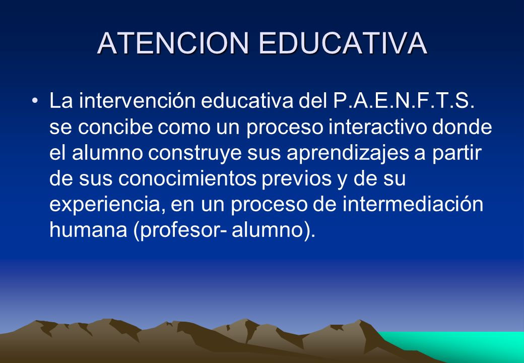 ATENCION EDUCATIVA