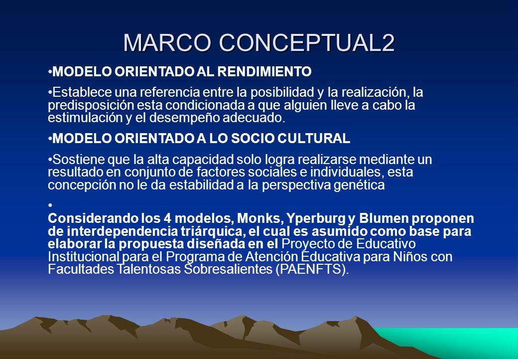 MARCO CONCEPTUAL2 MODELO ORIENTADO AL RENDIMIENTO