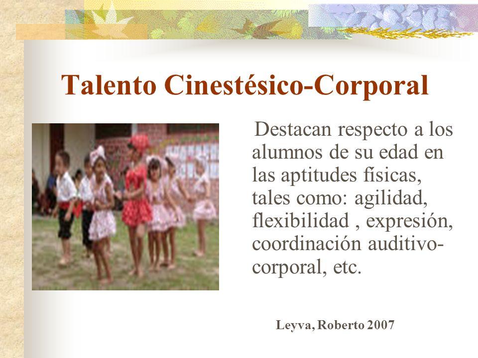 Talento Cinestésico-Corporal
