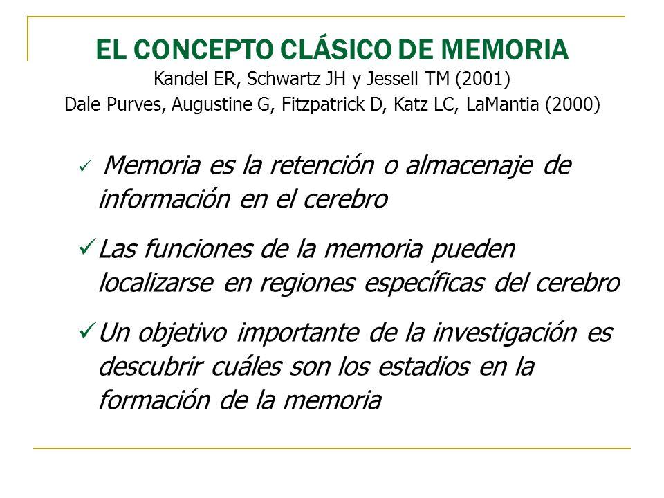 EL CONCEPTO CLÁSICO DE MEMORIA