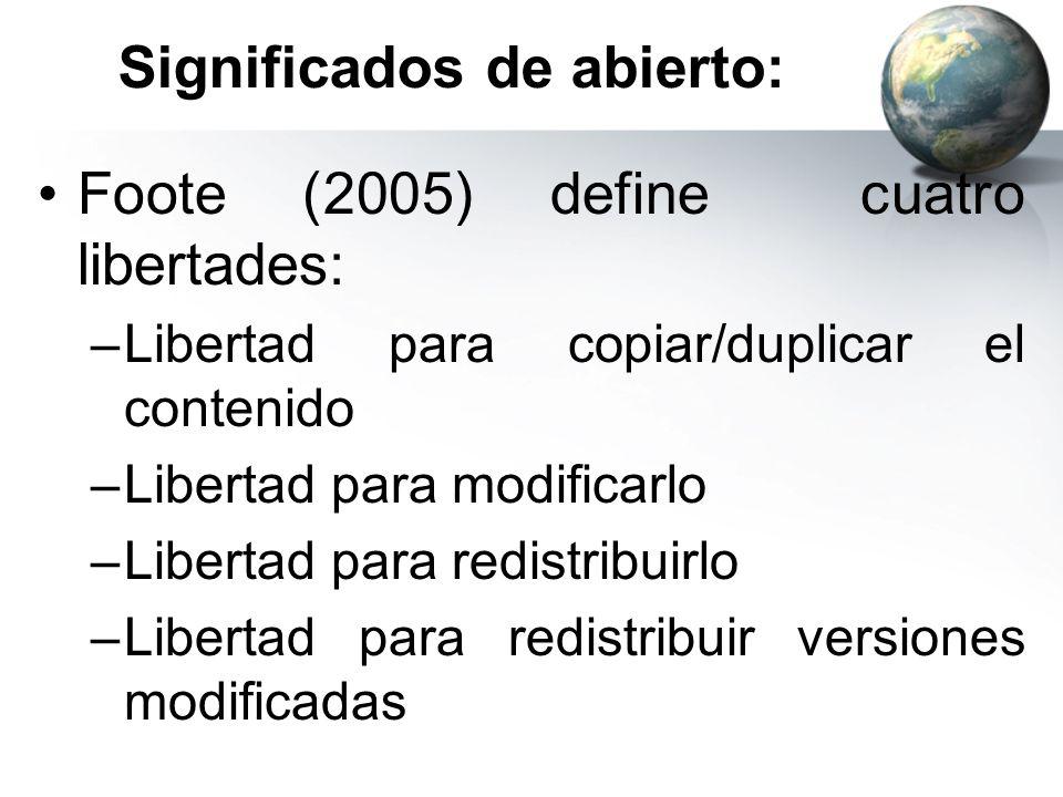 Significados de abierto: