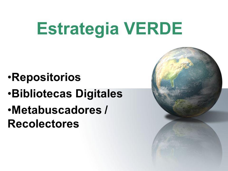 Repositorios Bibliotecas Digitales Metabuscadores / Recolectores