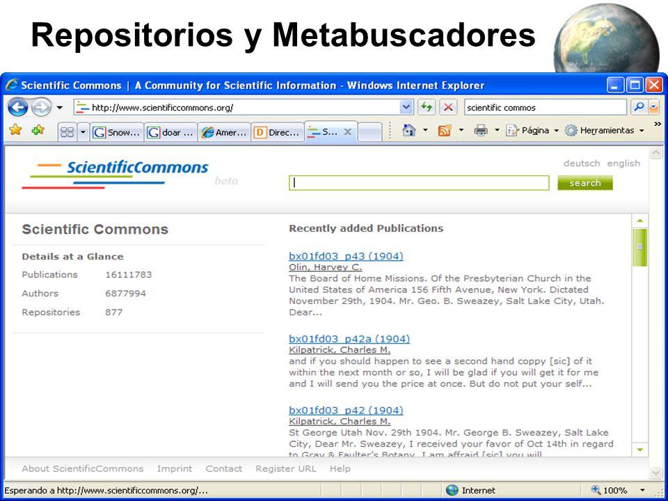 Repositorios y Metabuscadores