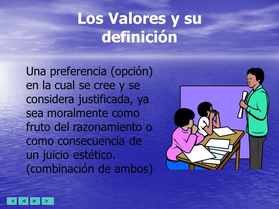 Los Valores y su definición