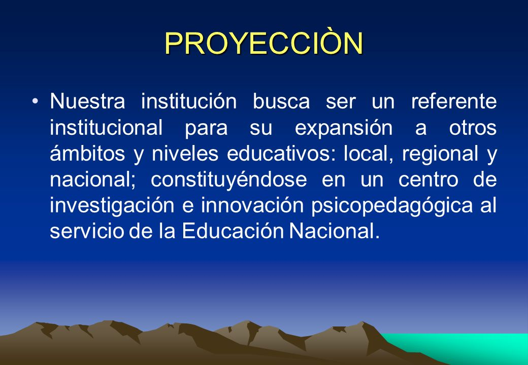 PROYECCIÒN