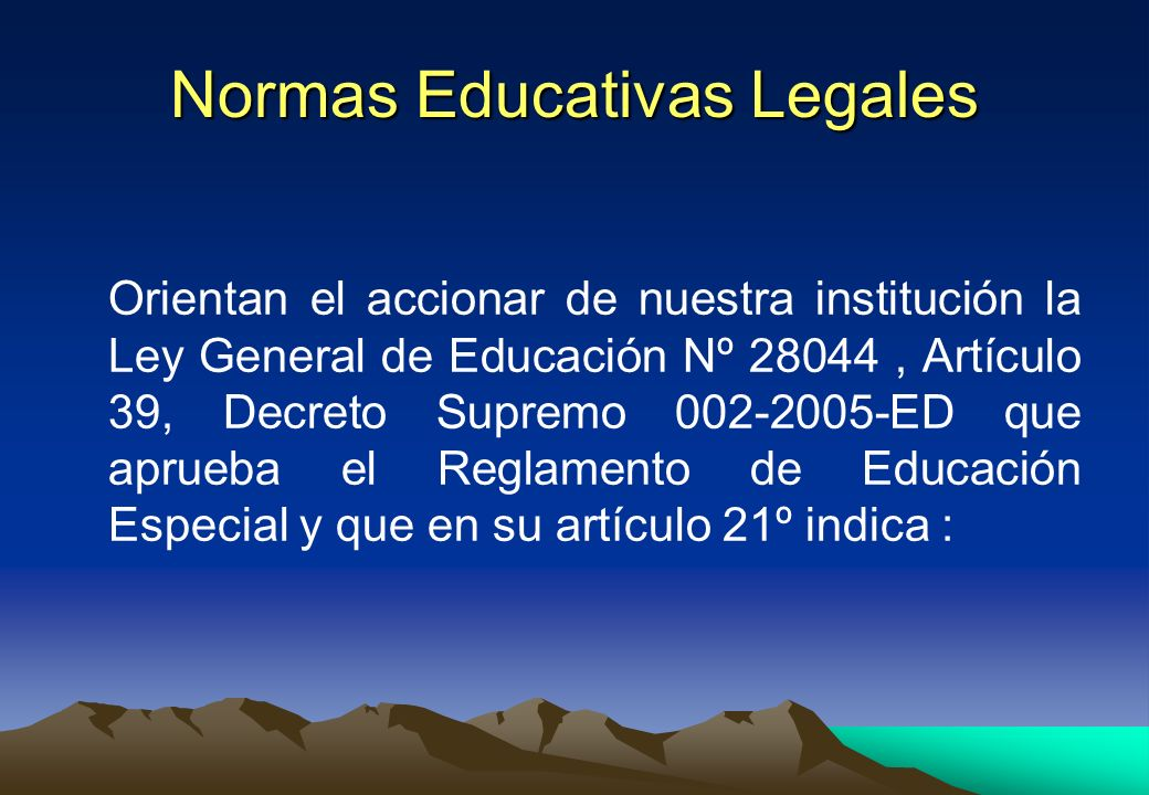 Normas Educativas Legales
