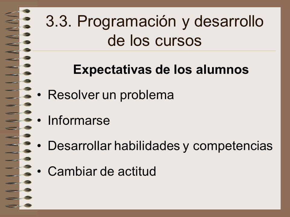 3.3. Programación y desarrollo de los cursos