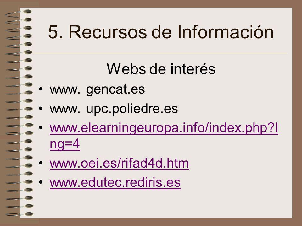 5. Recursos de Información