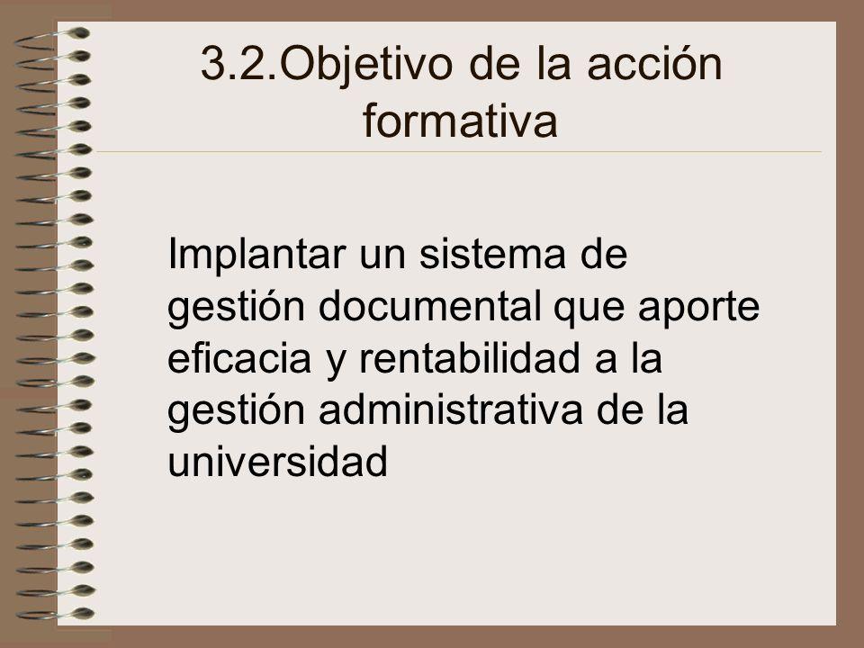 3.2.Objetivo de la acción formativa