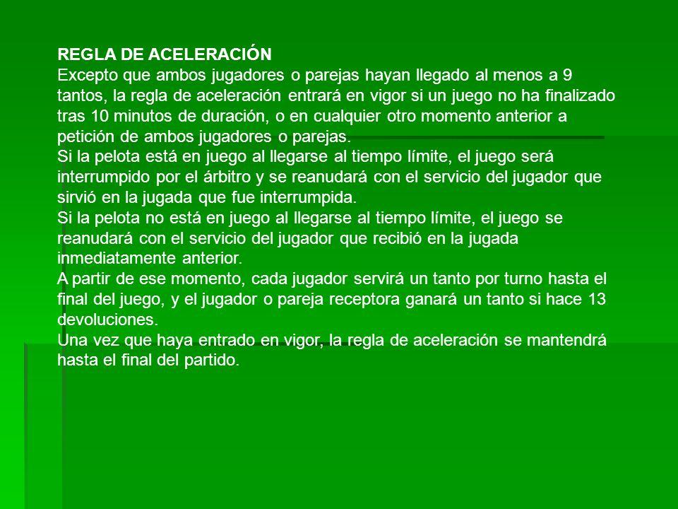 REGLA DE ACELERACIÓN