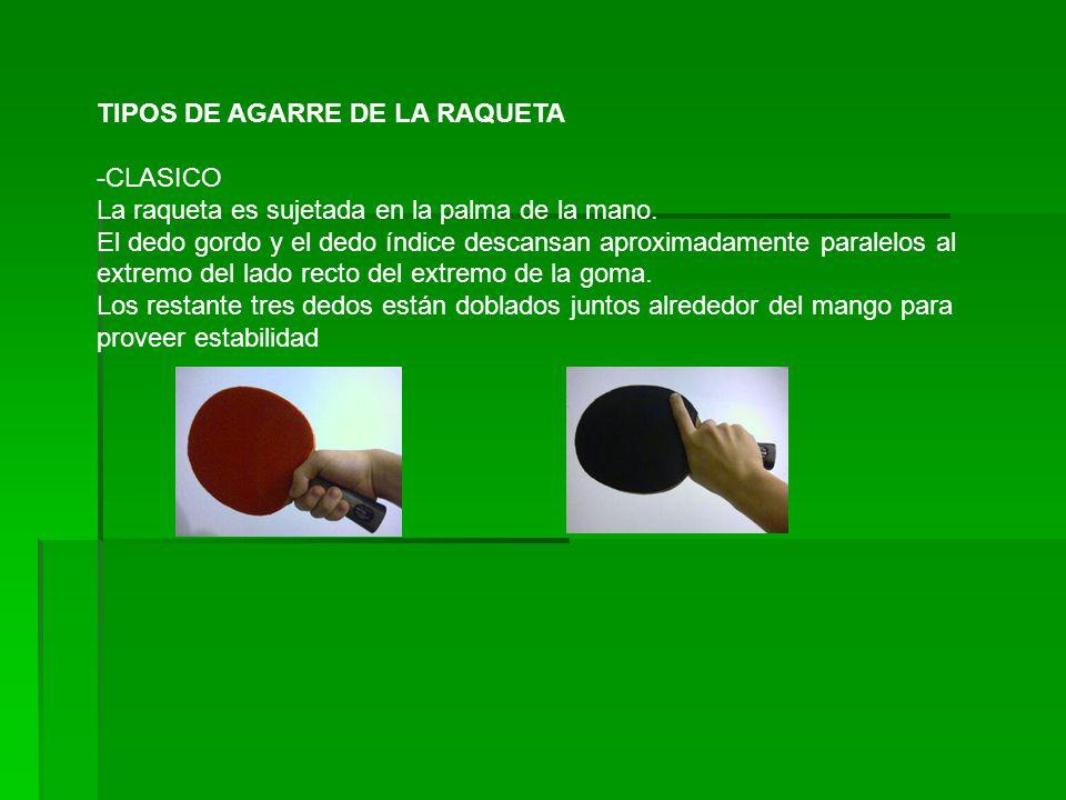 TIPOS DE AGARRE DE LA RAQUETA