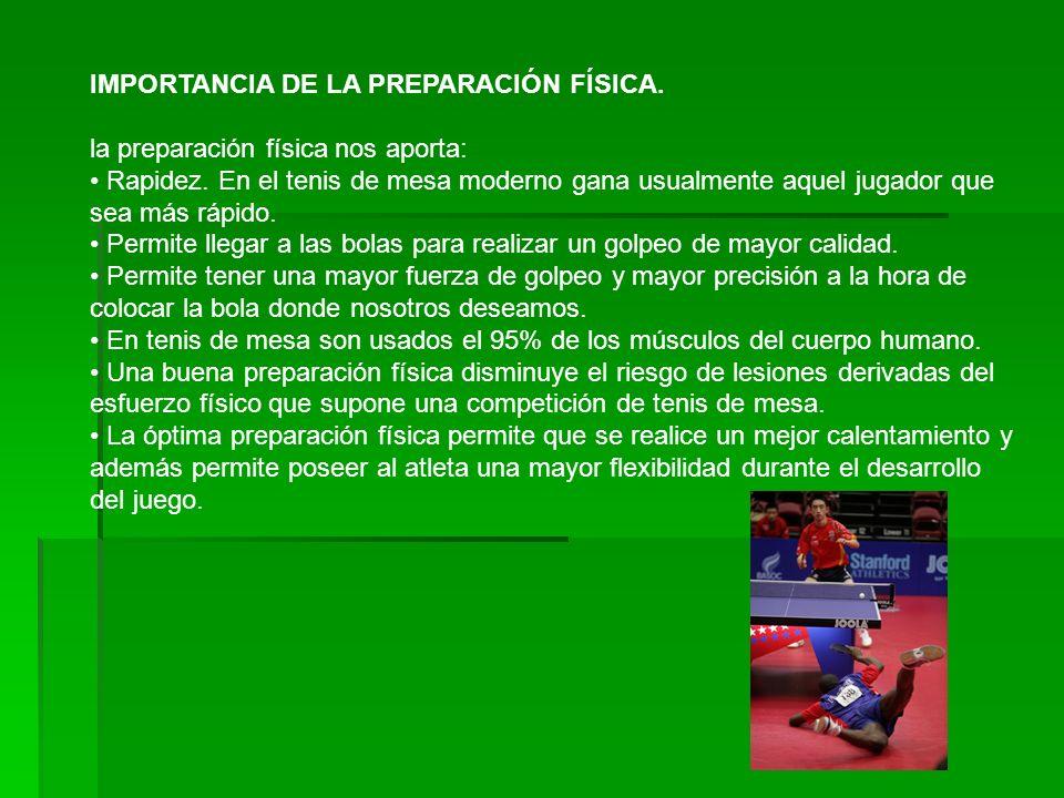 IMPORTANCIA DE LA PREPARACIÓN FÍSICA.