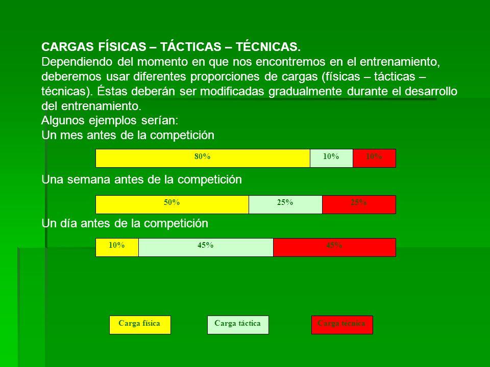 CARGAS FÍSICAS – TÁCTICAS – TÉCNICAS.