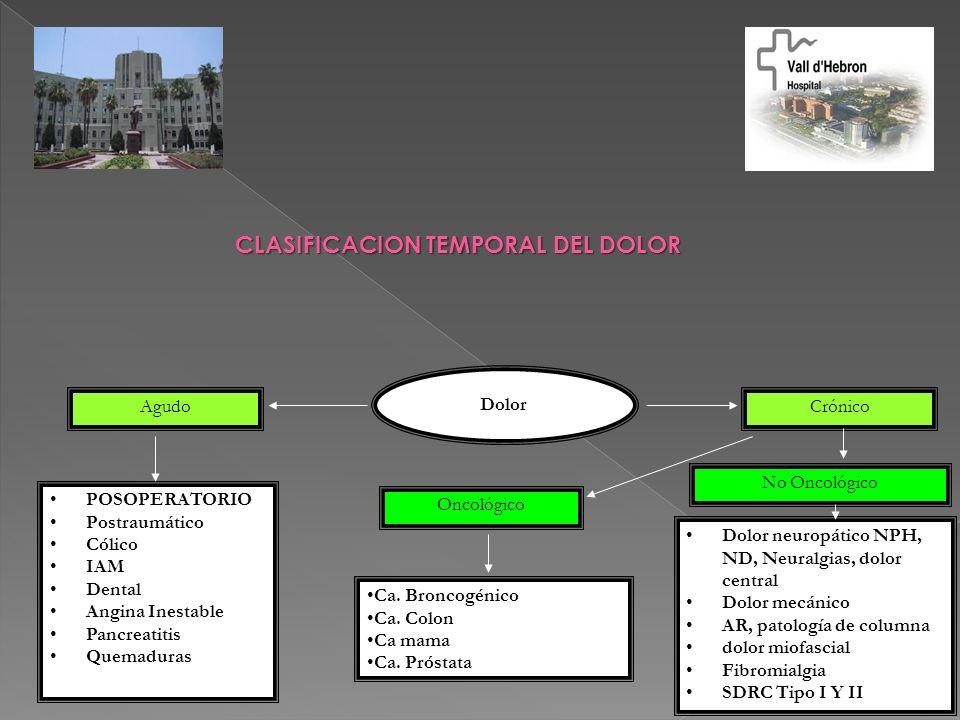 CLASIFICACION TEMPORAL DEL DOLOR