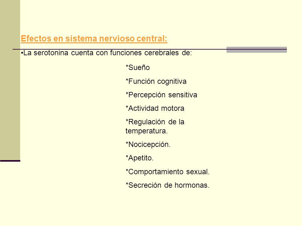 Efectos en sistema nervioso central: