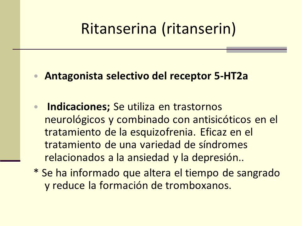 Ritanserina (ritanserin)