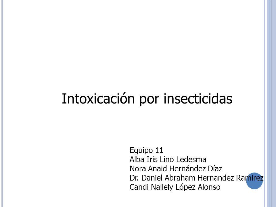 Intoxicación por insecticidas