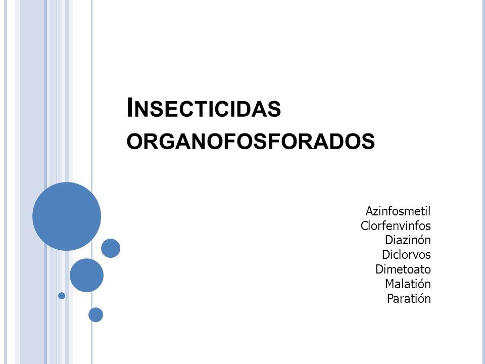 Insecticidas organofosforados