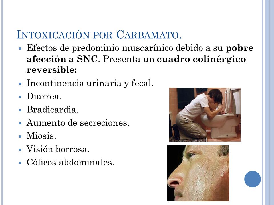 Intoxicación por Carbamato.