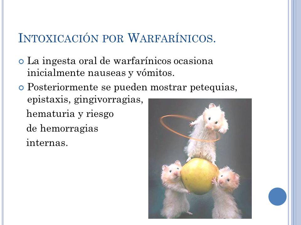 Intoxicación por Warfarínicos.