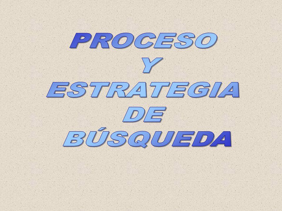 PROCESO Y ESTRATEGIA DE BÚSQUEDA