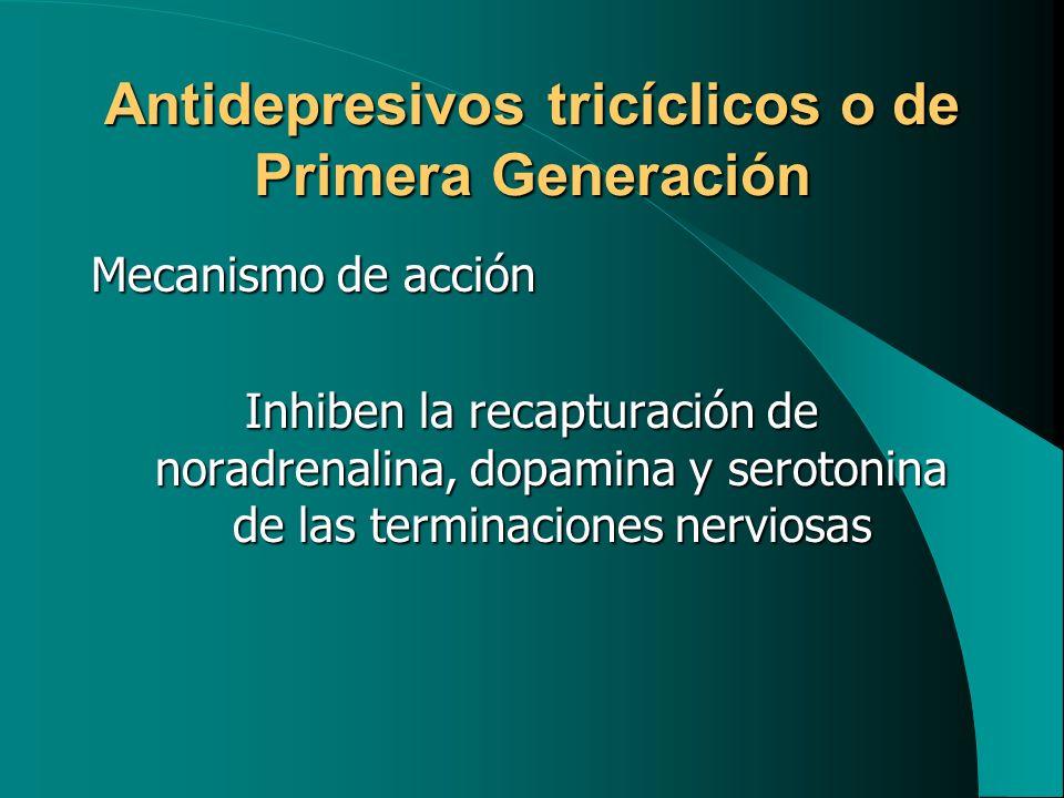 Antidepresivos tricíclicos o de Primera Generación