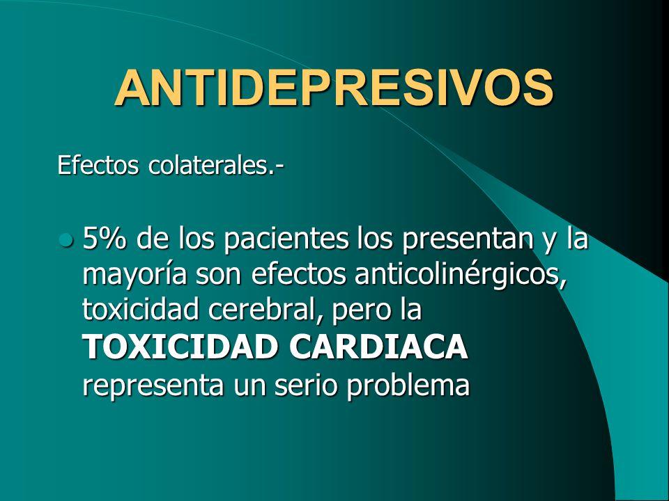 ANTIDEPRESIVOS Efectos colaterales.-