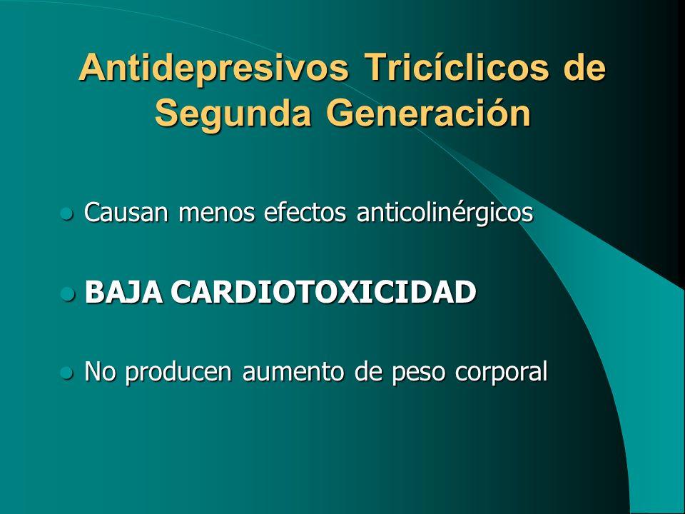 Antidepresivos Tricíclicos de Segunda Generación