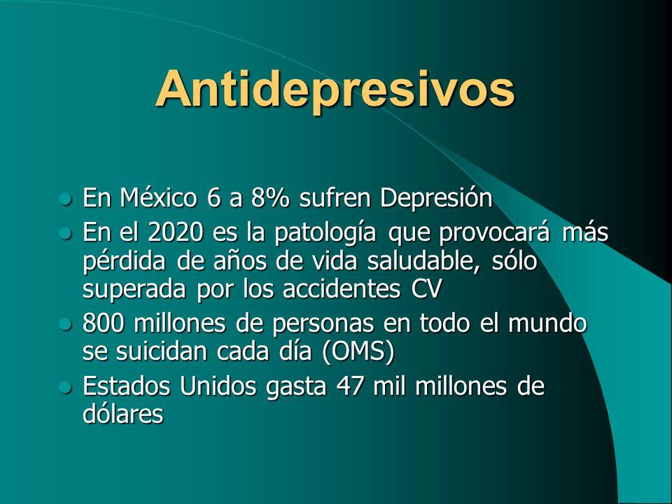 Antidepresivos En México 6 a 8% sufren Depresión