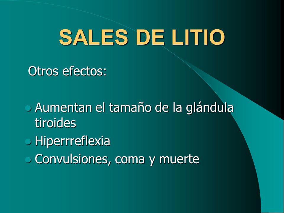 SALES DE LITIO Otros efectos:
