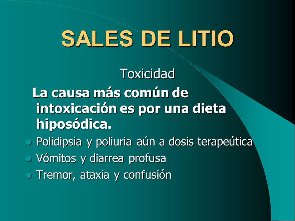 SALES DE LITIO Toxicidad