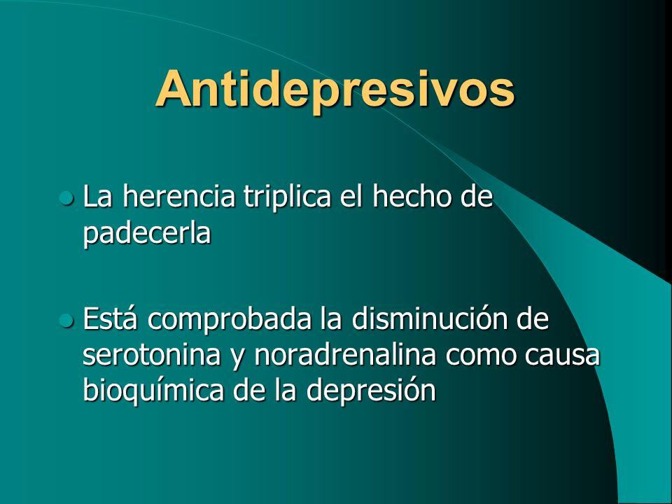 Antidepresivos La herencia triplica el hecho de padecerla