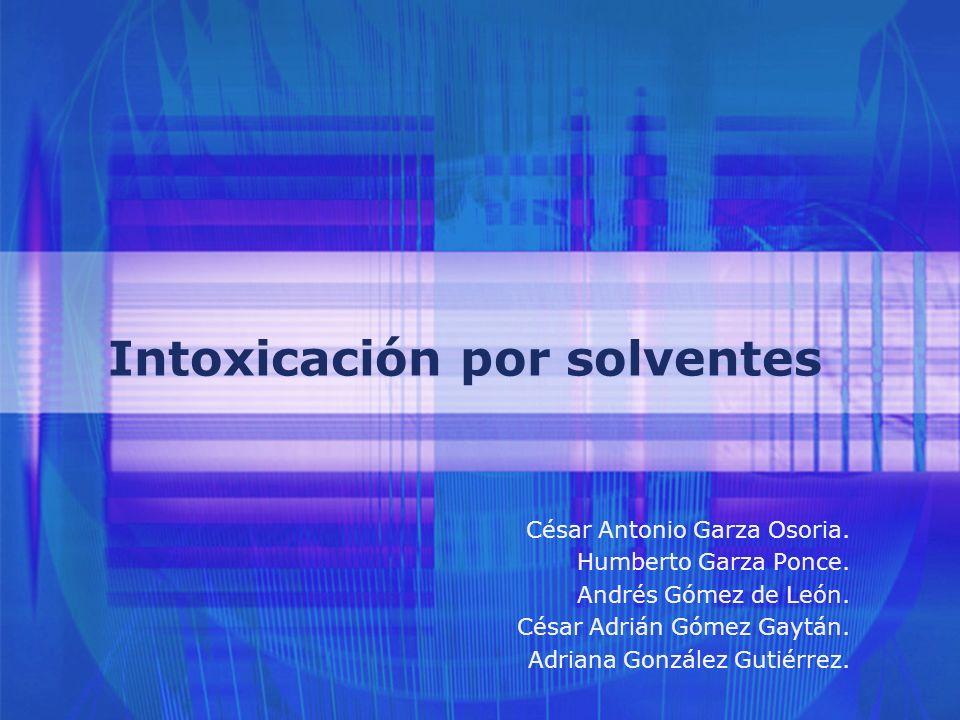 Intoxicación por solventes