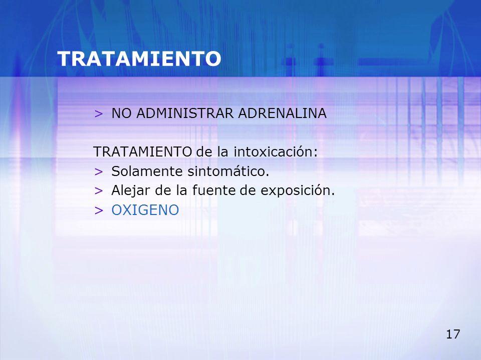 TRATAMIENTO OXIGENO NO ADMINISTRAR ADRENALINA