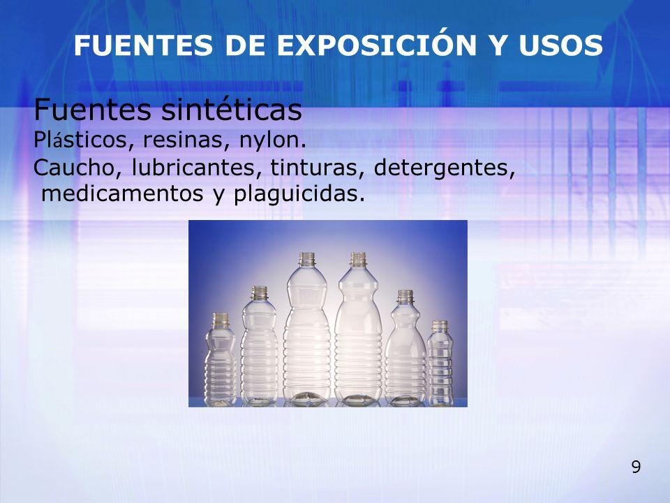 FUENTES DE EXPOSICIÓN Y USOS