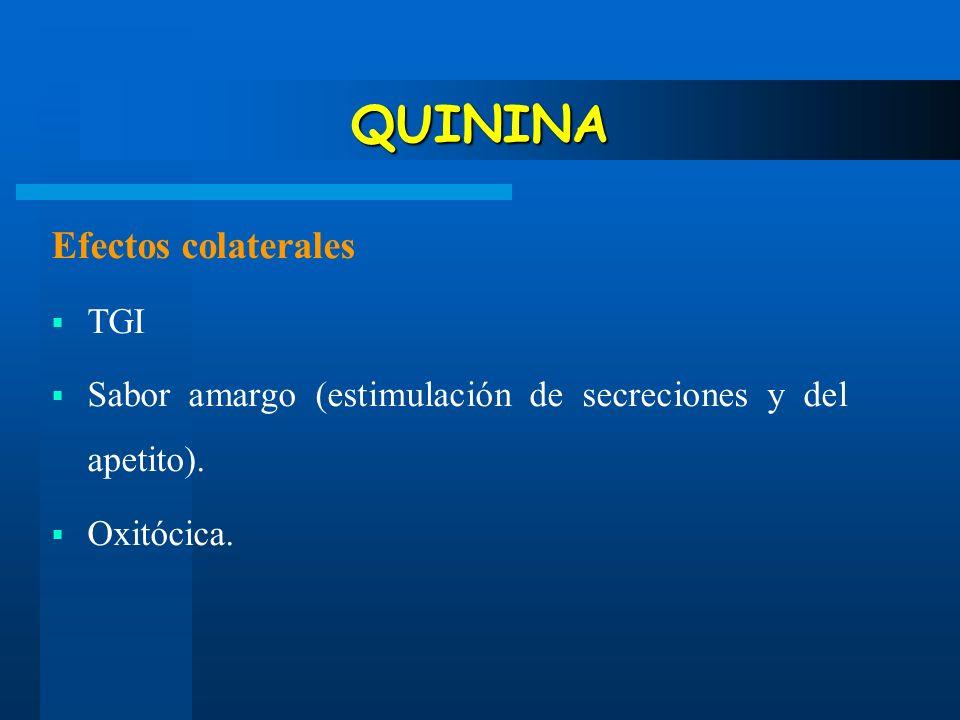 QUININA Efectos colaterales TGI