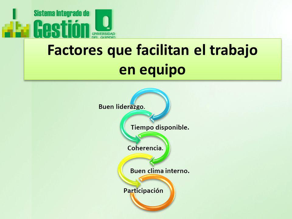 Factores que facilitan el trabajo en equipo