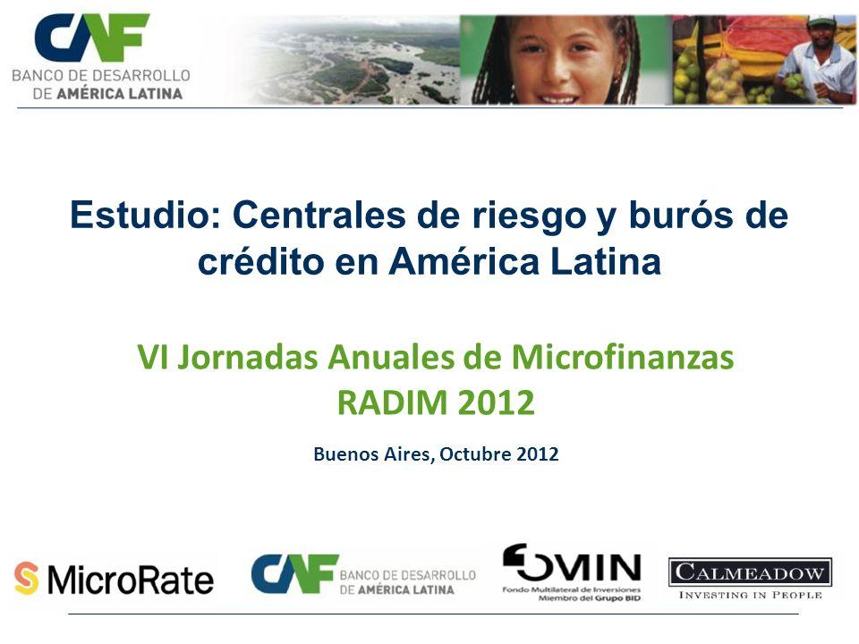 Estudio: Centrales de riesgo y burós de crédito en América Latina