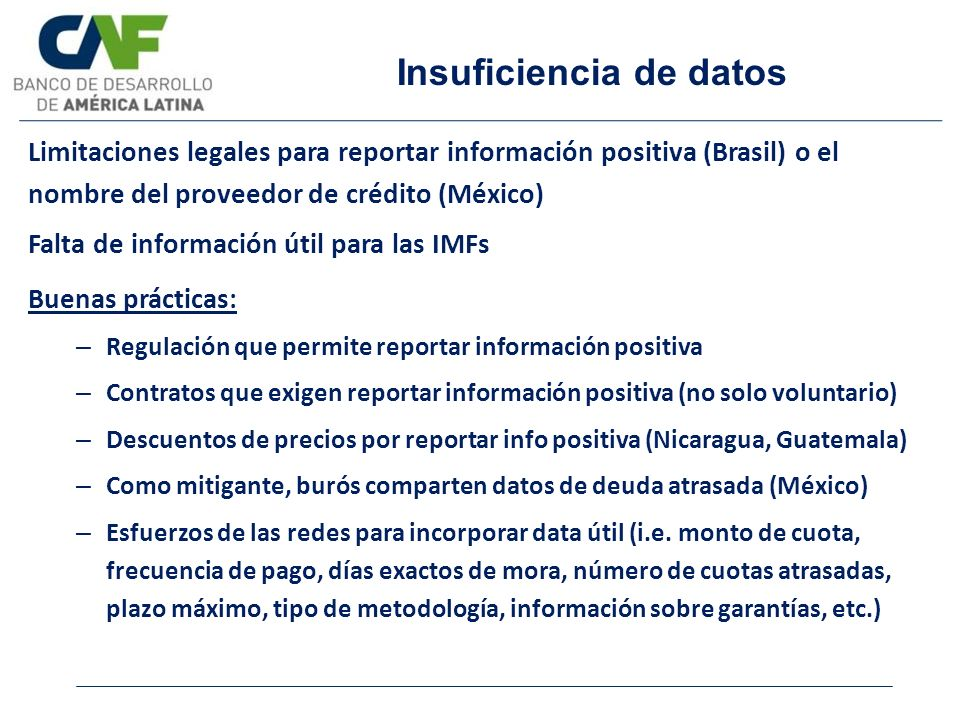 Insuficiencia de datos