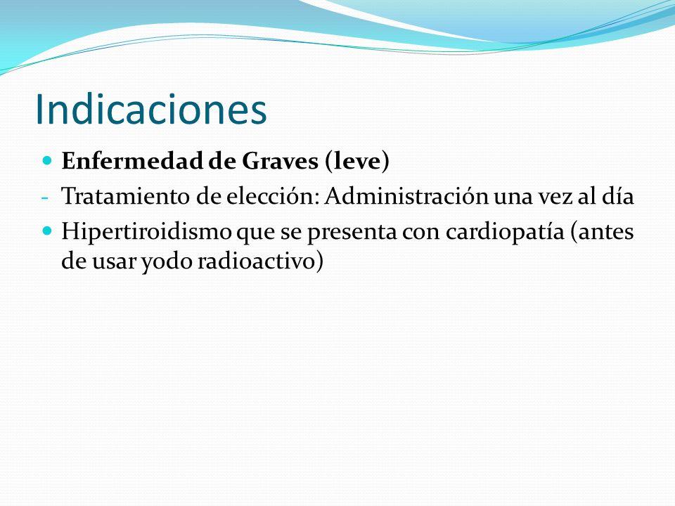 Indicaciones Enfermedad de Graves (leve)