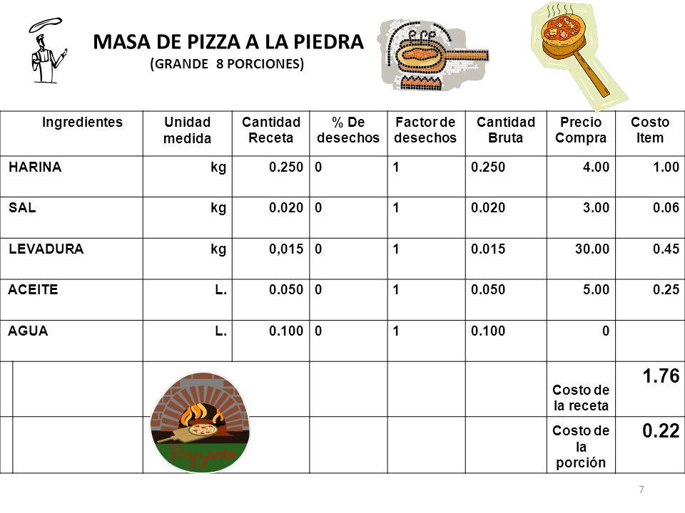 MASA DE PIZZA A LA PIEDRA
