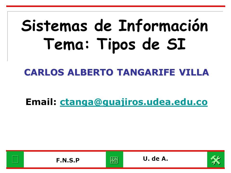 Sistemas de Información Tema: Tipos de SI