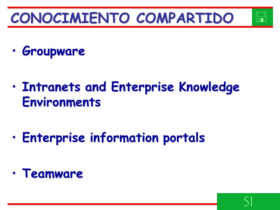 CONOCIMIENTO COMPARTIDO 