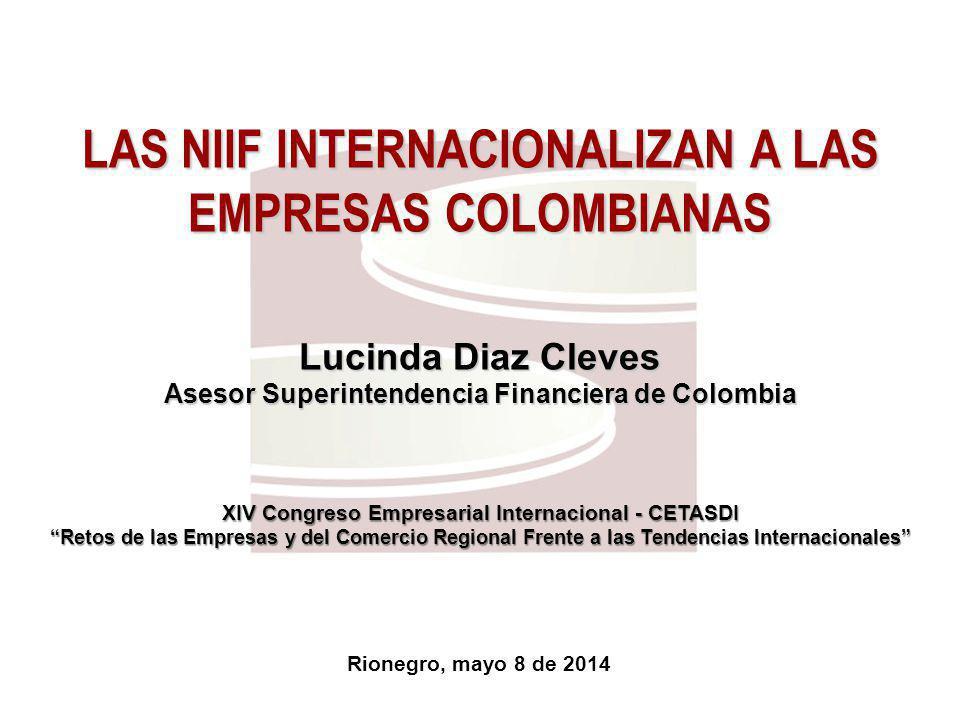 LAS NIIF INTERNACIONALIZAN A LAS EMPRESAS COLOMBIANAS
