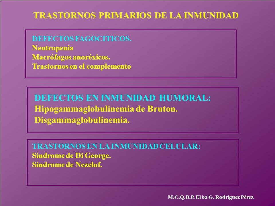 TRASTORNOS PRIMARIOS DE LA INMUNIDAD