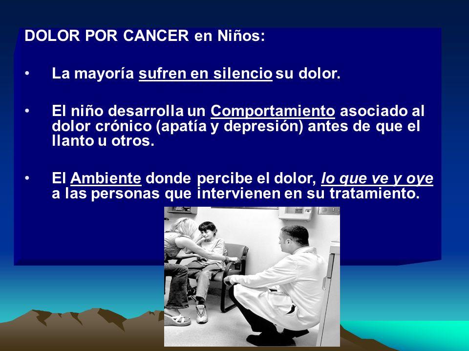 DOLOR POR CANCER en Niños: