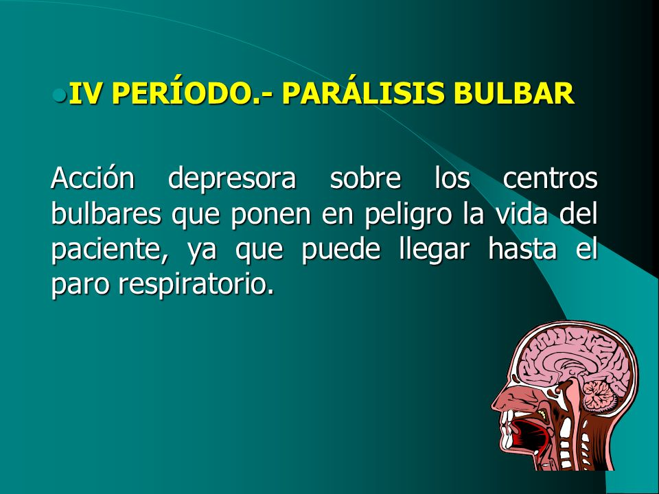 IV PERÍODO.- PARÁLISIS BULBAR