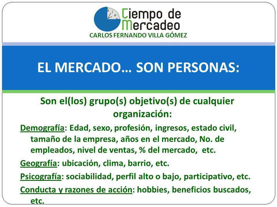 EL MERCADO… SON PERSONAS: